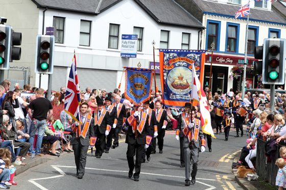 The Star of Temparance LOL 356 from Castlewellan marching in the Ballynahinch parade in 2012.