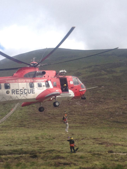 The Mourne Mountain Rescue Team responded to two hill walkers sustaining injuries on Slieve Donard.