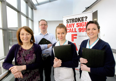 Pauline Glenfield (Senior Manager), Hugh Gallagher (Social Worker), Annie Kenny (Occupational Therapist) & Sinead McConnell (Speech and Language Therapist)