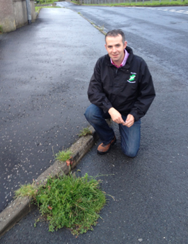 Councillor Paul Gribben is concerned about the state of the roads around Drumaroad.