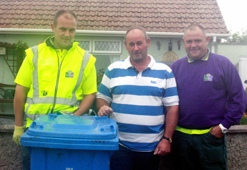 Liam Quinn from Kilclief is recycler of the Month for August.