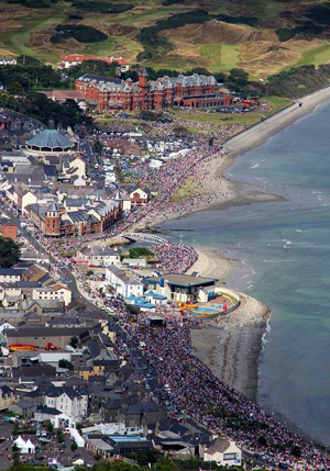 Newcastle pictured during the Festival of Flight.