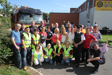 The different agencies involved in the partnership with the PSNI attended the safety fun day at Ballymote.