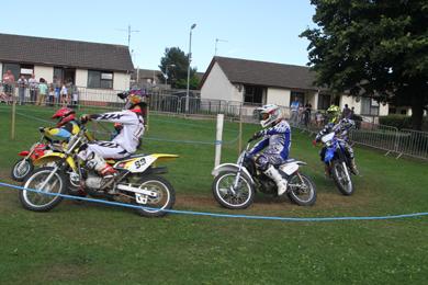 Senior bikers perform a demonstration at Ballymote.