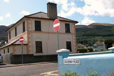 A suspicious package was left at the Orange Hall in Newcastle, Co Down.
