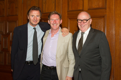 Liam Neeson, Lyric Patron, with Adrian Dunbar and Terry George.