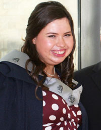 Well done toSheila Bodel from Kilkeelwhograduated in Business Management.