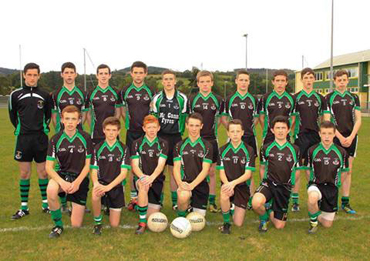 The victorious Under 16 boys who qualified for the Under 16B County Final last Saturday.