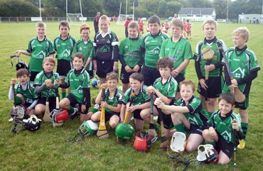 Under-8 and Under-10 Hurlers at the Warrenpoint Blitz on Saturday past.