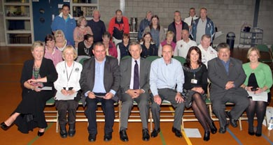 Some of the attendees at the public meeting in the Bridge Centre in Killyleagh.