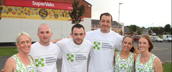 The six runners who are taking part in the Dublin marathon organised a fundraiser for the Downs Syndrome Society at the RGU Clubrooms and raised a fantastic £1300.