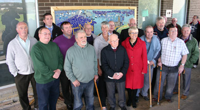 South Down MP margaret Ritchie at the launch of the Downpatrick shed with a group of 'shedders'/
