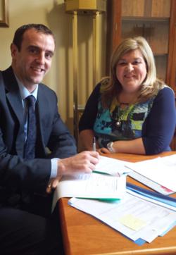 DOE Minister Mark H Durkin with new PPS Karen McKevitt, South Down MLA.