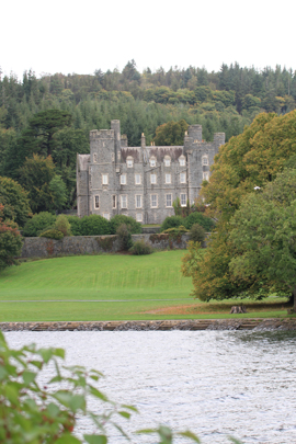 The Annesley home looking south to the Mournes over Castlewellan Lake.