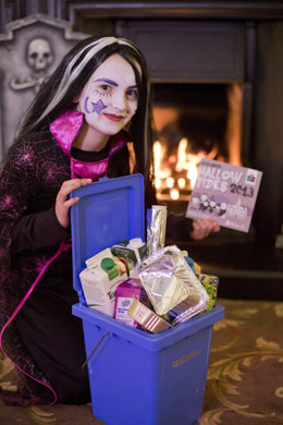 Reminding us to reduce, re-use and recycle and to be careful 'witch' bin to recycle our cartons and foil in is Caoimhe Galbraith (9) from P6 at Our Lady and St Patrick's Primary School, Downpatrick