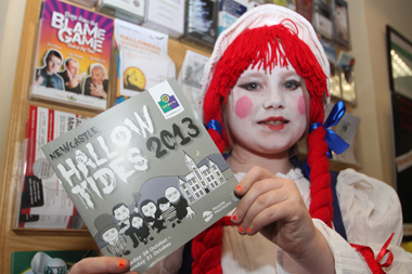 Cora Douglas from Downpatrick shows of the great Hallowtides programme in Newcastle.