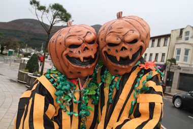 Peter and Michele Grant from Newcastle were the Pumpkinheads.