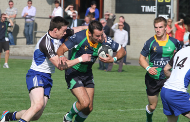 Hinch try scorer Aaron Ferris in action against Cork Con.