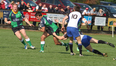 Richie Lobb No 10 makes a break supported by Beill Fallon.