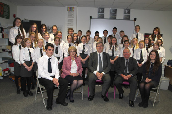 Minister John O'Dowd pictured at Shimna Integrated College in Newcastle.