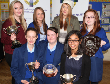 Special Awards Recipients at the St Mary's High School prize day.