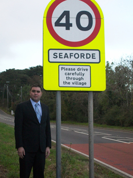 UKIP representative Alan Lewis calls for a reduction in the speed limit.