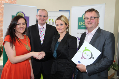 At the launch of the Plato EBR initiative were Down District Council Chairman Cllr Maria McCarthy,