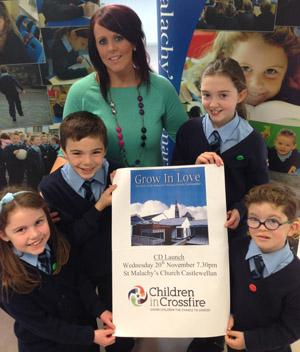 St Malachy's Primary School is delighted their CD will help Children in Crossfire.