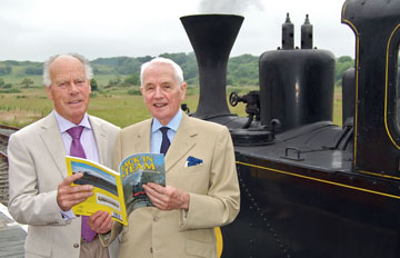 """Gerry Cochrane (left) with Bill Gillespie at the launch of Gerry's book """"Back in Steam"""" in June 2009"""