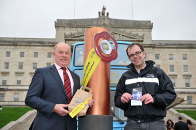 Alliance MLA Kieran McCarthy pictured at Stormont at the NI Water Bus.