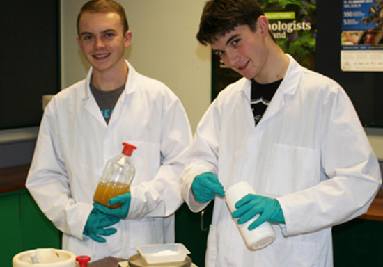 SERC Applied Science students Conan Mulraine and Kyle Clarke off to Dublin to compete in a BT applied science competition.