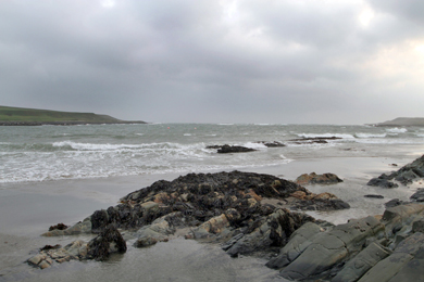 The area of Ballyhornan beach where an emergency outflow pipe is being located.