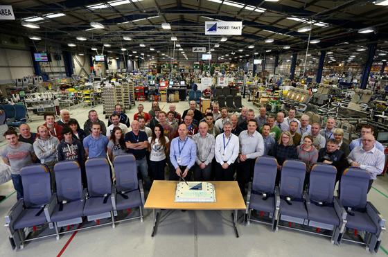 A big celebration at B/E Aerospace as production hits a new height.