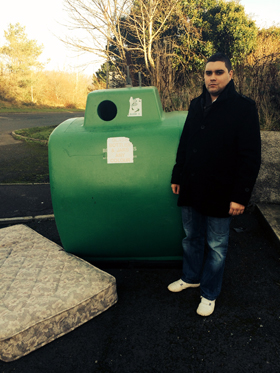 UKIP representative Alan Lewis appeals to fly tippers to use Council recycling facilities.