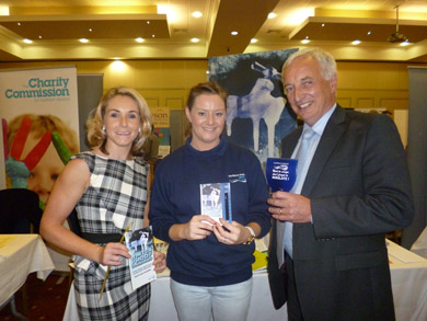 Down District Councillor Laura Devlin and South Down MLA Séan Rogers at an NI Water stall during a recent conference