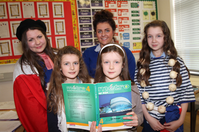 On the French language class were Alisha and Louise Lundy with St Mary's students Anna Connolly, Giselle Mahon and Sarah Vize.