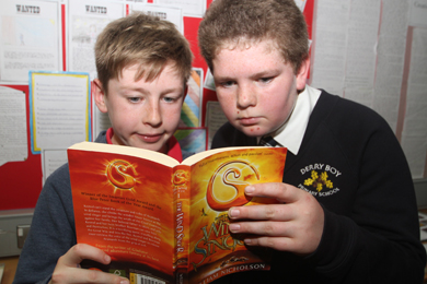 In the English class were Callum McVeigh and Darius Kittle looking over an interesting novel.