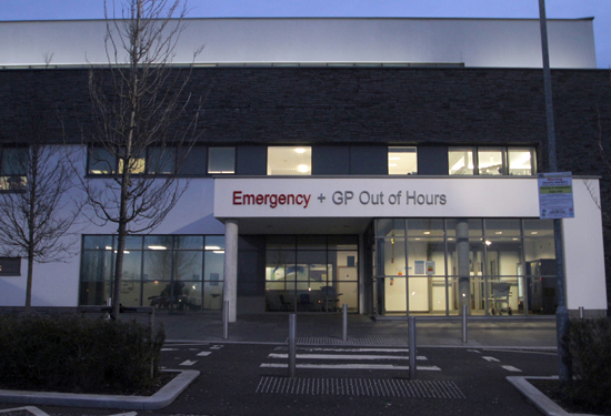The Downe A&E department... now closed at weekends and after 8pm weekdays.