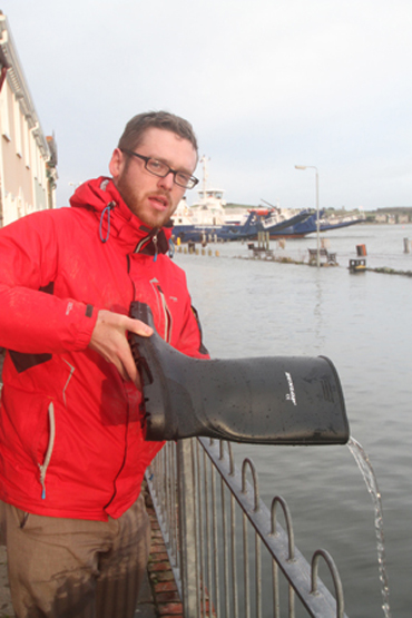 Councillor Gareth Sharvin was on hand in Strangford as the tidal surge hit the village.