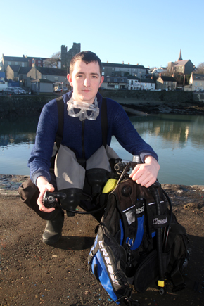 John Henvey of Phennick Cove, a new diving instruction school based in Ardglass.