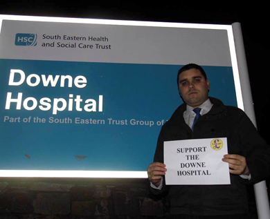 UKIP Down District representaive Alan Lewis expresses concern over A&E services.