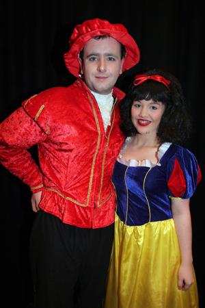 Mark Smyth as Prince Vince and Deborah Fitzsimons as Snow White