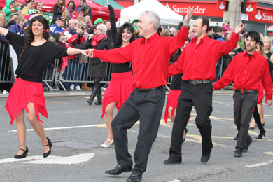 Salsa dancers in last year's St Patrick's parade.
