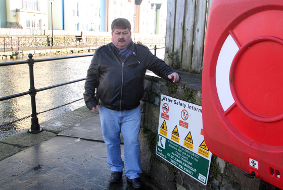 Killlyleagh Councillor Billy Walker is deeply concerned about vandalism to life saving equipment at Killyeagh harbour.