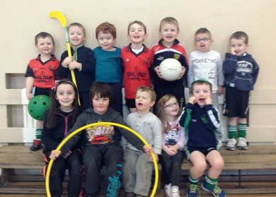 Young Gaels: The Aughlisnafin U-6 players.