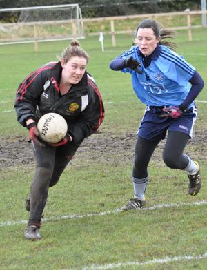 Down keeper Sinead Brannigan in training.