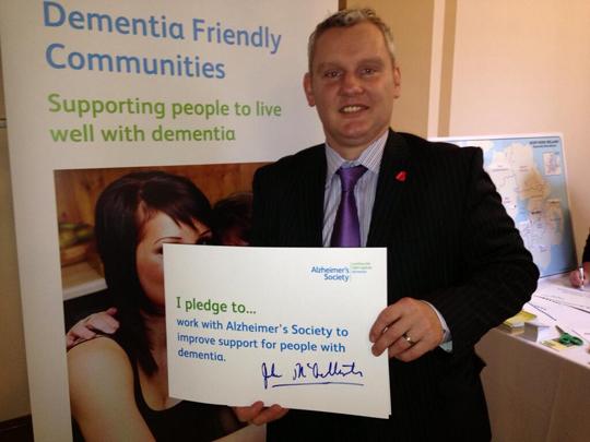 NI21 deputy leader and South Down MLA John McCallister supports dementia friendly communities.
