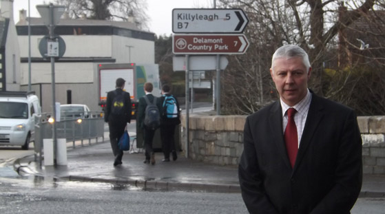 Councillor Robert Burgess has called on more safety improvements to Crossgar roundabout.