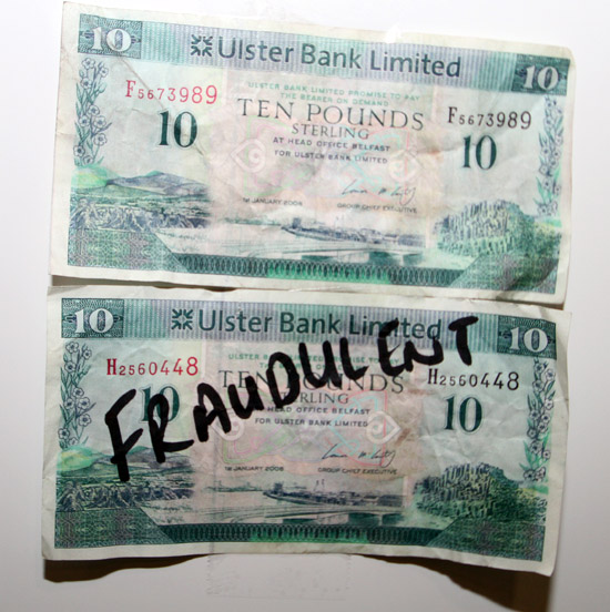 Counterfeit notes? Is you money safe?
