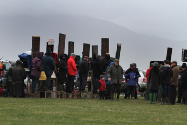 There was nowhere to hide from the wind and the rain at the P2P at Tyrella.